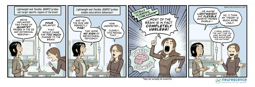 Neurescence comic strip brain